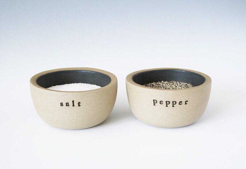Salt And Pepper Bowls Charcoal