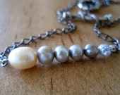 RESERVED Pearls in a Row Necklace