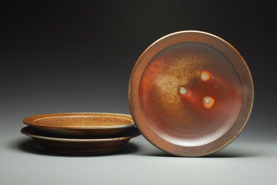 Dinner Plate, wood and soda fired stoneware