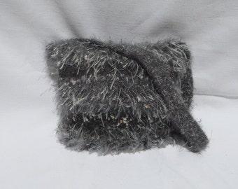 Hand-knitted felted handbag