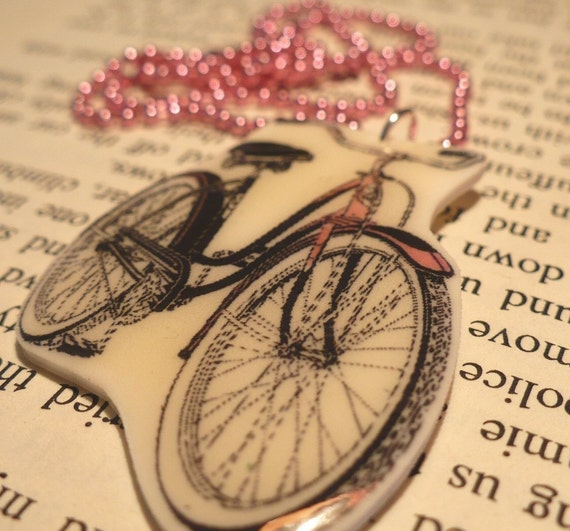 I Want to Ride My Pink Bicycle Necklace