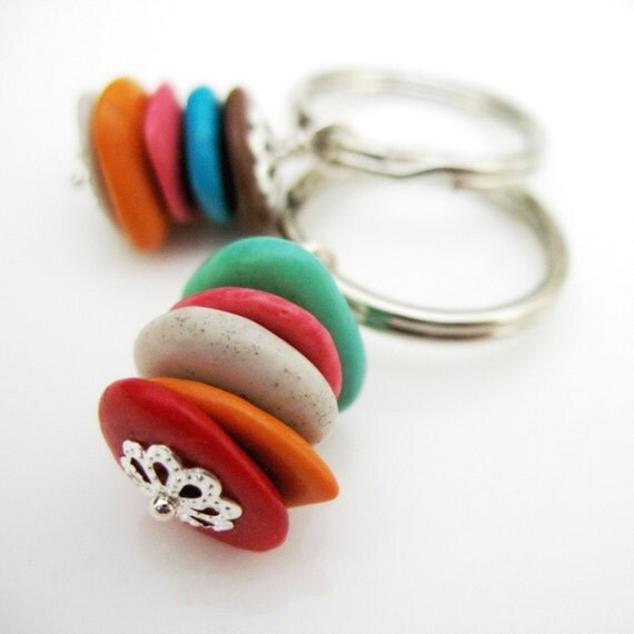 Color Slices Key Ring