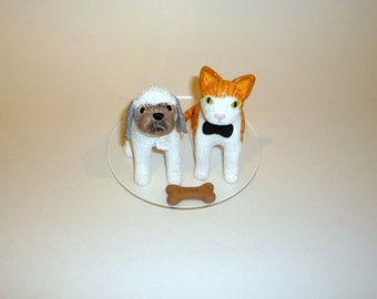 custom cat cake topper bowtie and veil