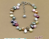 custom listing for robinstover1-  9.5 in adjustable 4-10mm reborn keshi freshwater pearl ANKLET with custom made EARRINGS
