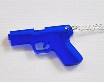 Hand Gun Necklace