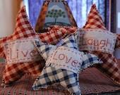Live love laugh set of primitive stars