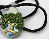 Glass Tree of Life Pendant - Lampwork - Hand Blown