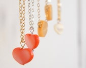 Valentine Heart Jewelry, Tiny Heart Necklace, Mother of Pearl, Valentine Jewelry