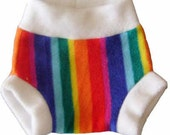 Rainbow fleece soaker (yps)