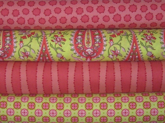 Amy Butler, Genevieve Gail, and Patty Young Fabric Bundle, 4 Fat Quarters