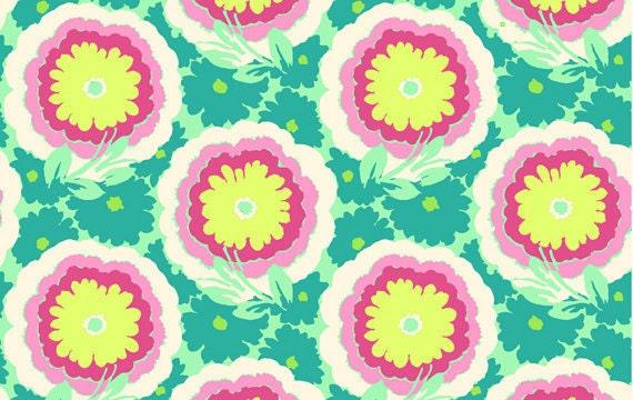 Buttercups in Spearmint, Amy Butler Soul Blossoms, LAST FAT QUARTER