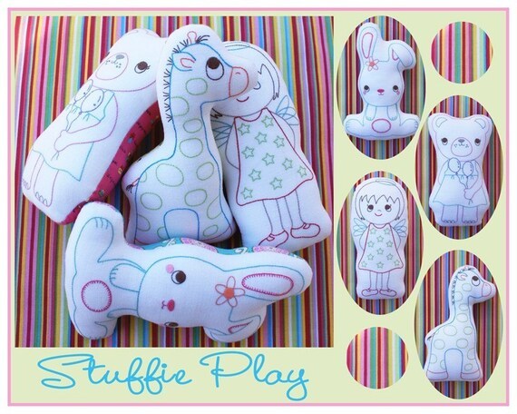 ALL PATTERNS 5 DOLLARS Stuffie Play from Sew Little by Melly and  Me, plus Free shipping with any other purchase