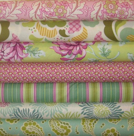 Heather Bailey Fabric Bundle, Freshcut Collection, 7 Fat Quarters