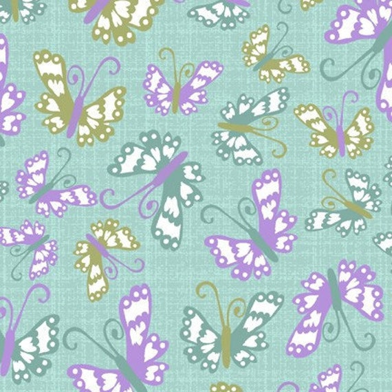 Going Out Of Business Sale Butterflies in Turquoise, Bloom, Studio E, END OF BOLT Sale 1 Yard 10 inches