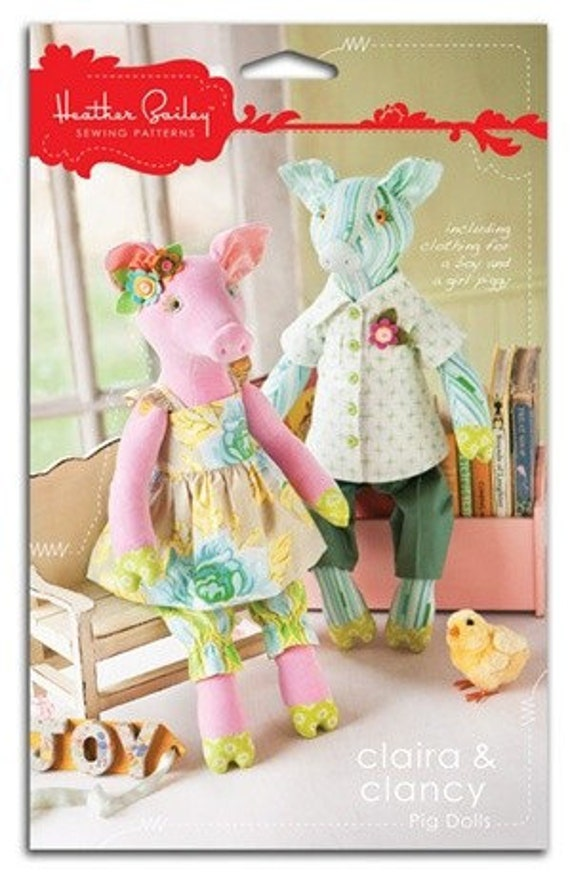 Claira and Clancy, Heather Bailey Sewing Pattern, plus Free Shipping with any other purchase