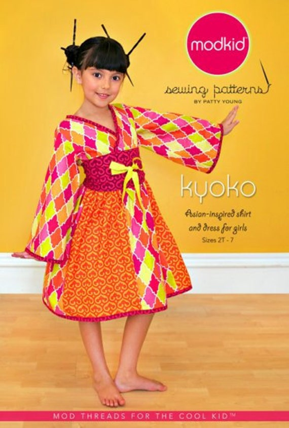 Kyoko, Patty Young Modkid Boutique Pattern, plus FREE Shipping with any other purchase