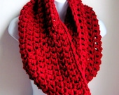 "Infinity Scarf, Burgundy Scarf Red Scarf, Marsala,Cowl,- Winter Fashion, Fall Large Chunky Scarf   ""Buy one get one 50% off lowest price"""