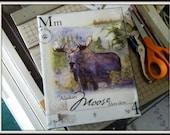 Alaska Moose on Canvas 8x10
