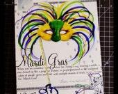 Louisiana Mardi Gras on Canvas 8x10
