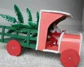 Santa Claus Driving Truck Christmas Candy Container decoration