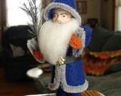 Santa Claus Figure Blue Coat