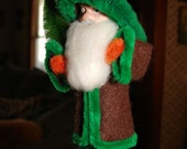 Santa Claus Figure Victorian Style Brown Coat
