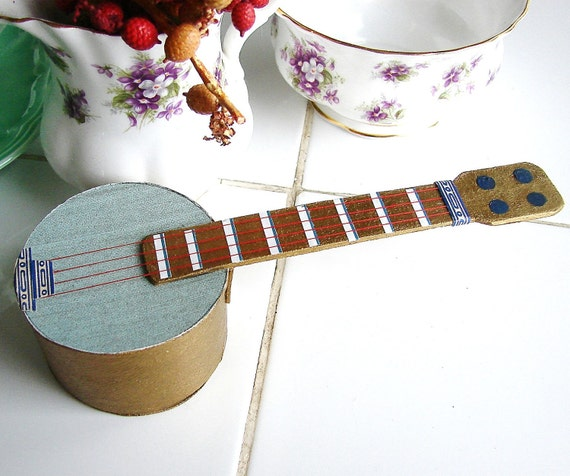 Banjo Christmas Candy Container Christmas ornament