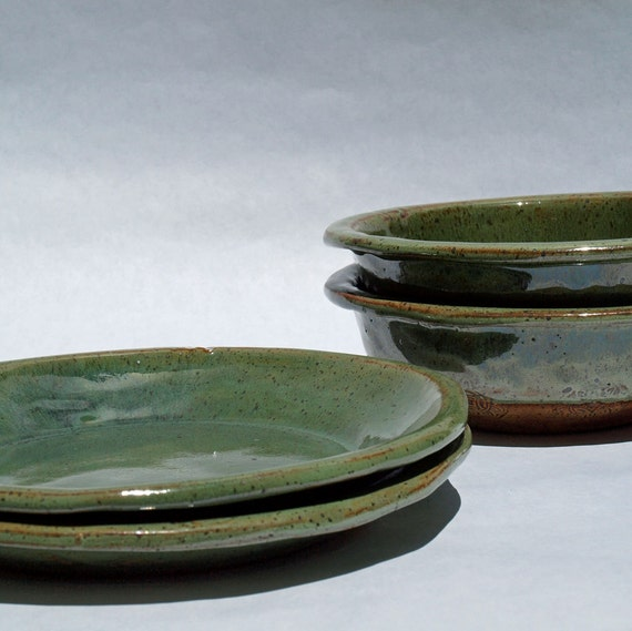 pottery plates & bowls stoneware set