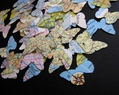 vintage map and atlas butterfly cutouts - mommyholly