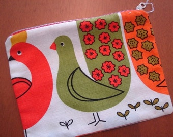Pouch from vintage fabric