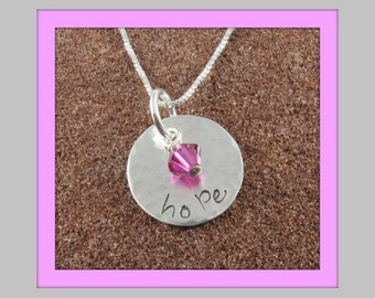 Hope Pendant with Crystal