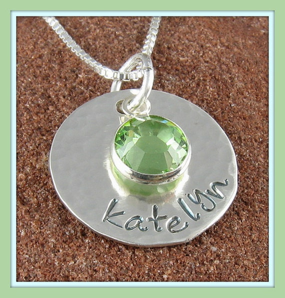 Birthstone Personalized Pendant