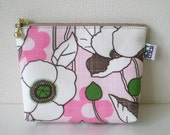 Zipper Pouch - Small, Poppy Pink