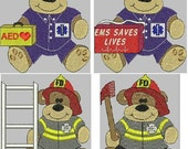 Firehouse Bears Embroidery Designs