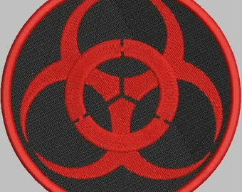 Biohazard Patch Embroidery Design