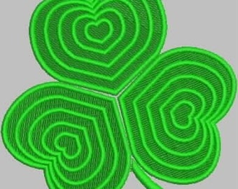 Shamrock Embroidery Design Single