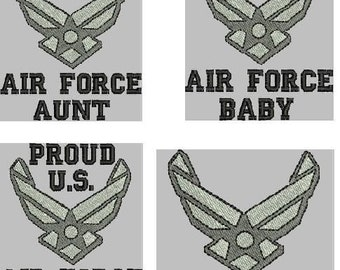 MILITARY HONOR Air Force Embroidery Designs