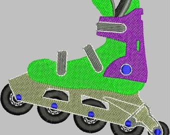 Rollerblade Embroidery Design
