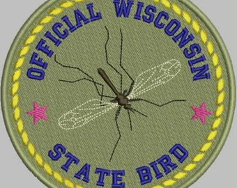 Official State Bird Patch (mosquito) Embroidery Design
