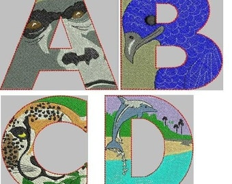 Wild Thing Animal Alphabet Embroidery Design