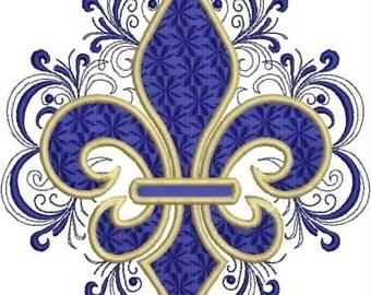 Lacy Fleur de Lis Embroidery Design