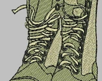 Combat Boots Embroidery Designs
