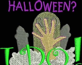 TRICK OR TREAT -- Halloween Machine Embroidery Designs