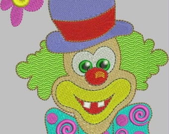 Clown Embroidery Designs