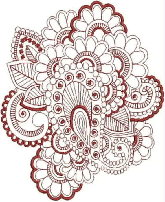 Henna Tattoo Embroidery Designs