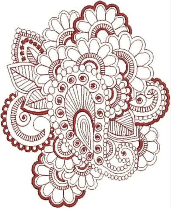 henna tattoo embroidery designs. Black Bedroom Furniture Sets. Home Design Ideas