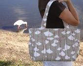 The Alexis Diaper Bag - ORGANIC - Ginkgo Snow