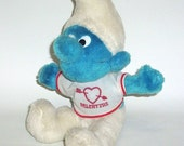 Vintage Smurf Doll 1979  Valentine Plush Peyo Smurf Animal Toy