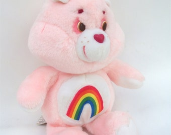 1983 Vintage Cheer Care Bear Plush Toy for Children