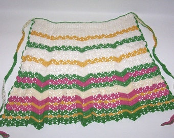 Vintage Crochet Kitchen Apron